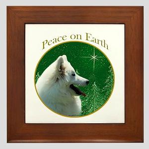 Eskimo Dog Peace Framed Tile