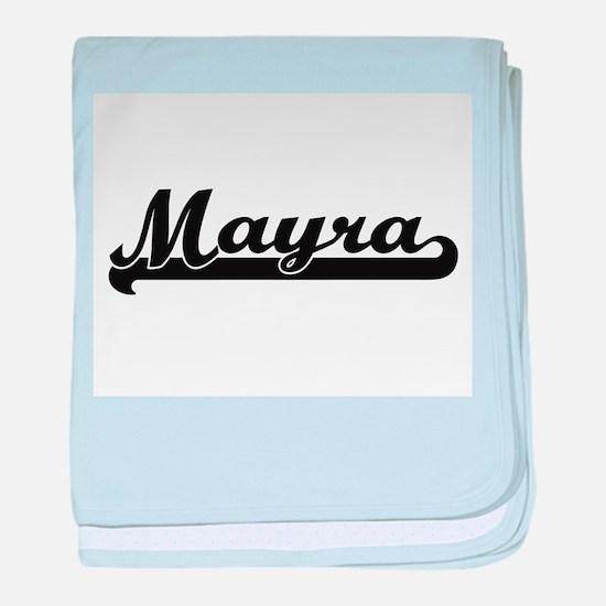 Mayra Classic Retro Name Design baby blanket