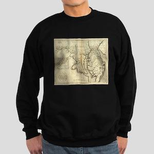 Vintage Map of Maryland (1796) Sweatshirt (dark)
