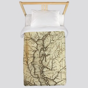 Vintage Map of Maryland (1796) Twin Duvet