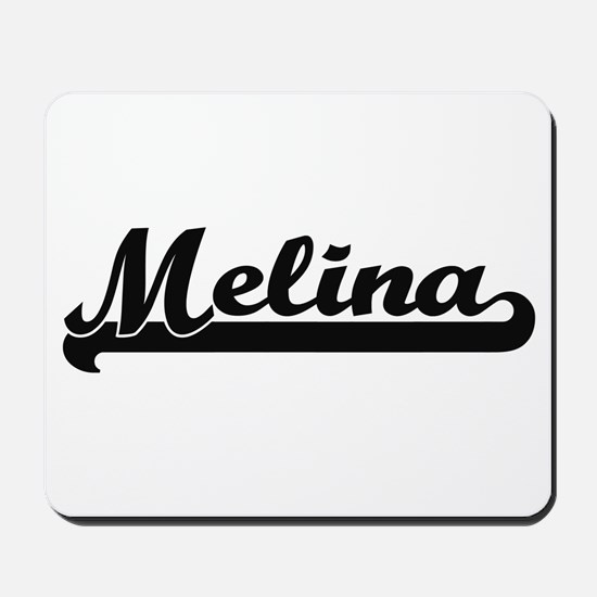 Melina Classic Retro Name Design Mousepad