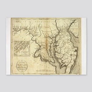 Vintage Map of Maryland (1796) 5'x7'Area Rug