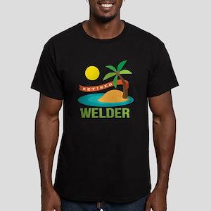 Retired Welder Men's Fitted T-Shirt (dark)