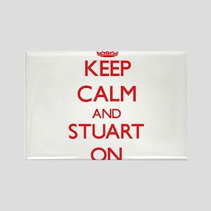 Keep Calm and Stuart ON Magnets