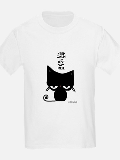Keep Calm & Just Say Meh - Cat T-Shirt