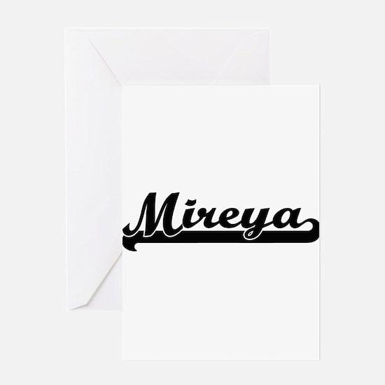 Mireya Classic Retro Name Design Greeting Cards