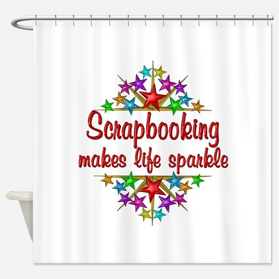 Scrapbooking Sparkles Shower Curtain