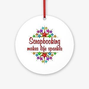 Scrapbooking Sparkles Ornament (Round)
