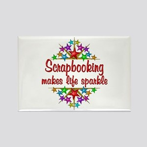 Scrapbooking Sparkles Rectangle Magnet