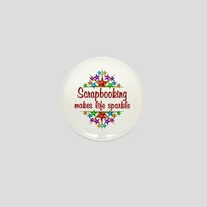 Scrapbooking Sparkles Mini Button