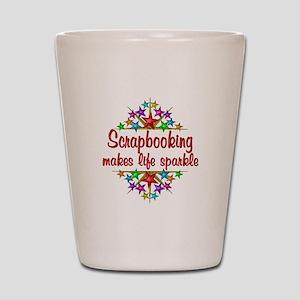 Scrapbooking Sparkles Shot Glass