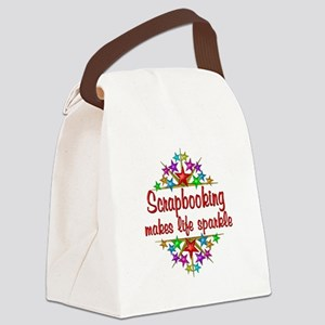 Scrapbooking Sparkles Canvas Lunch Bag