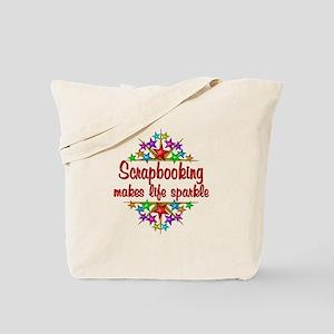 Scrapbooking Sparkles Tote Bag