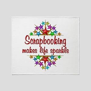 Scrapbooking Sparkles Throw Blanket