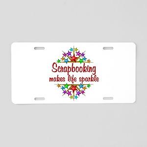 Scrapbooking Sparkles Aluminum License Plate