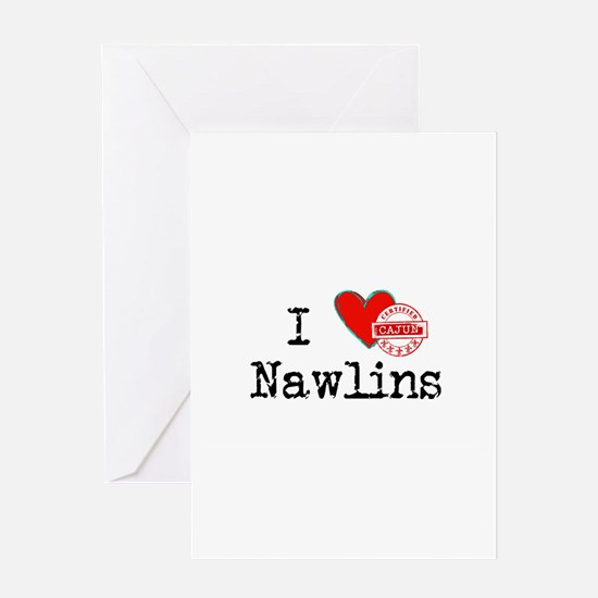 I Love Nawlins Certified Cajun Greeting Cards