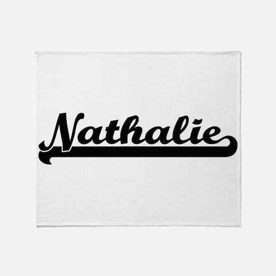 Nathalie Classic Retro Name Design Throw Blanket