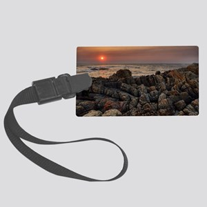 Sunset in Viana do Caste Large Luggage Tag