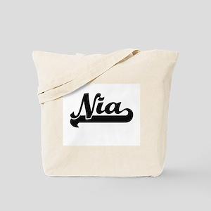 Nia Classic Retro Name Design Tote Bag