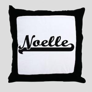 Noelle Classic Retro Name Design Throw Pillow