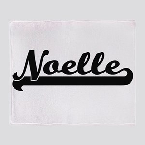 Noelle Classic Retro Name Design Throw Blanket