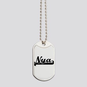 Nya Classic Retro Name Design Dog Tags