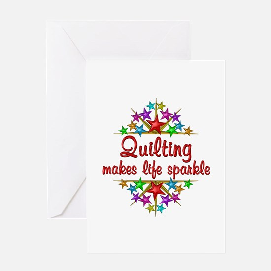 Quilting Sparkles Greeting Card
