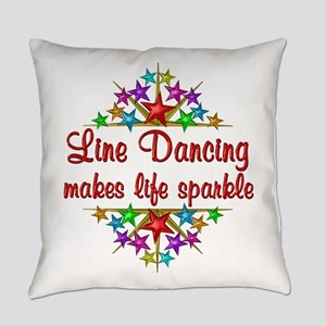 Line Dancing Sparkles Everyday Pillow