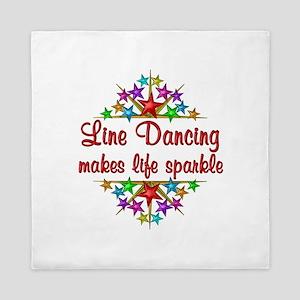 Line Dancing Sparkles Queen Duvet