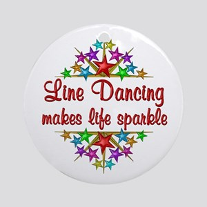 Line Dancing Sparkles Ornament (Round)