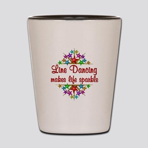Line Dancing Sparkles Shot Glass