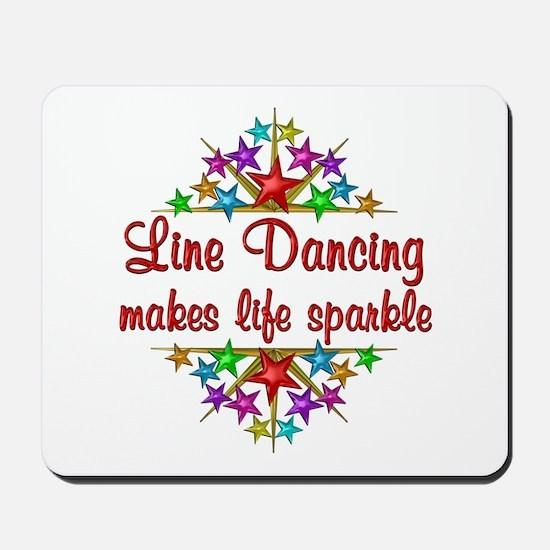 Line Dancing Sparkles Mousepad