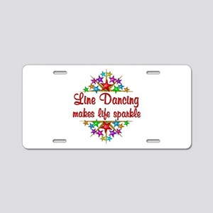 Line Dancing Sparkles Aluminum License Plate