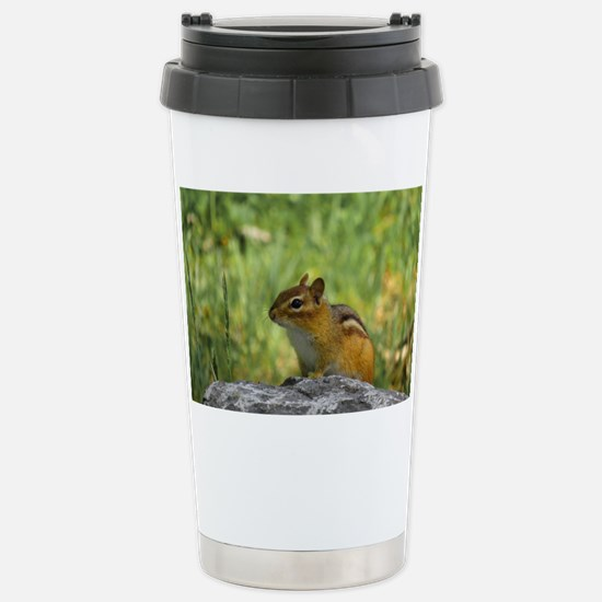 Curious Chipmunk Stainless Steel Travel Mug