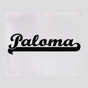 Paloma Classic Retro Name Design Throw Blanket
