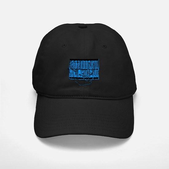 Modular Synth Blue/Black Baseball Hat
