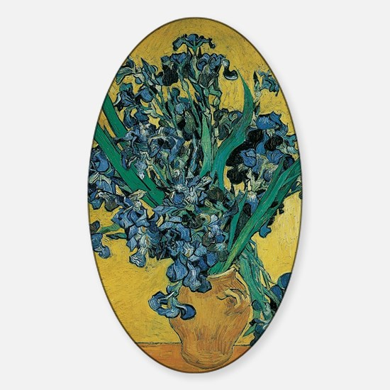 Irises by Vincent van Gogh Sticker (Oval)