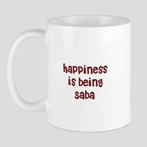 happiness is being Saba Mug