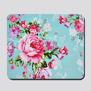 Beautiful Vintage Chic Cottage Roses Mousepad