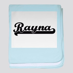 Rayna Classic Retro Name Design baby blanket
