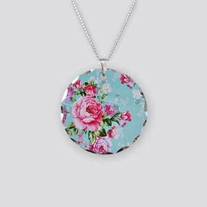 Beautiful Vintage Chic Cotta Necklace Circle Charm