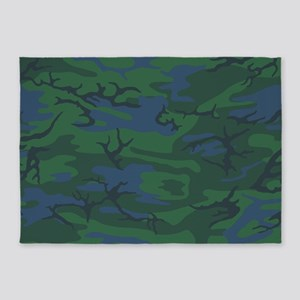 Twilight Green Camo 5'x7'Area Rug