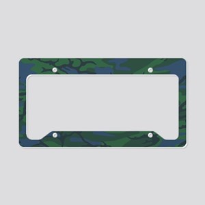 Twilight Green Camo License Plate Holder
