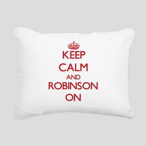 Keep Calm and Robinson O Rectangular Canvas Pillow