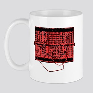 Modular Synth Red/Black Mug