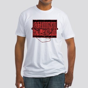 Modular Synth Red/Black Fitted T-Shirt