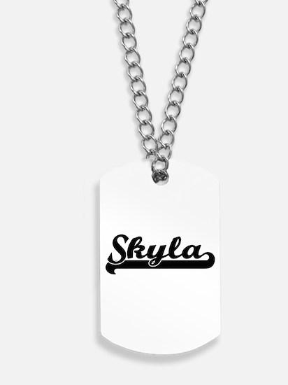 Skyla Classic Retro Name Design Dog Tags