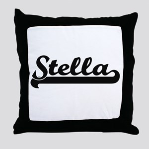 Stella Classic Retro Name Design Throw Pillow