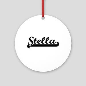 Stella Classic Retro Name Design Ornament (Round)