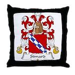 Simard Family Crest Throw Pillow